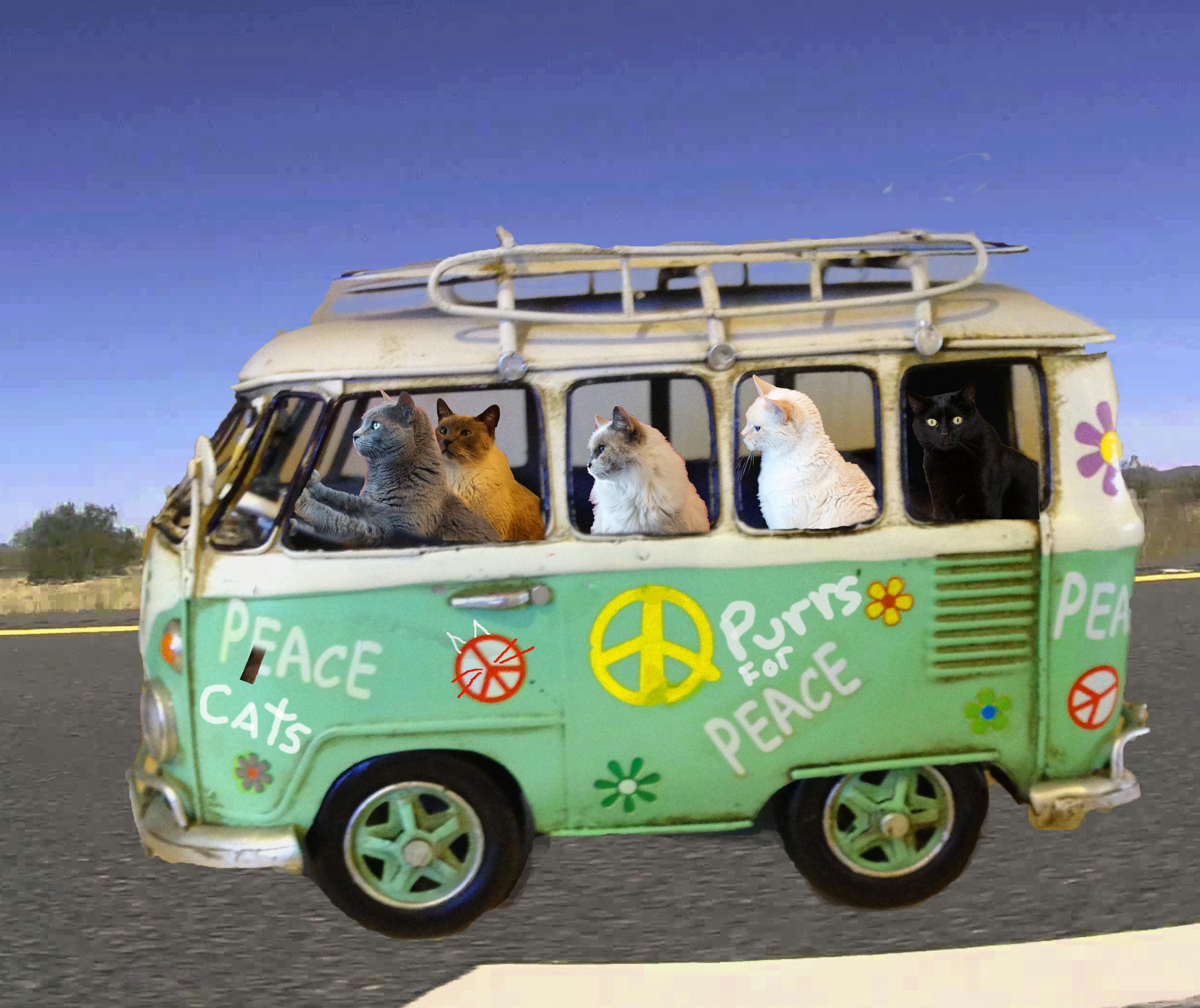 Furball Fables Peace Bus